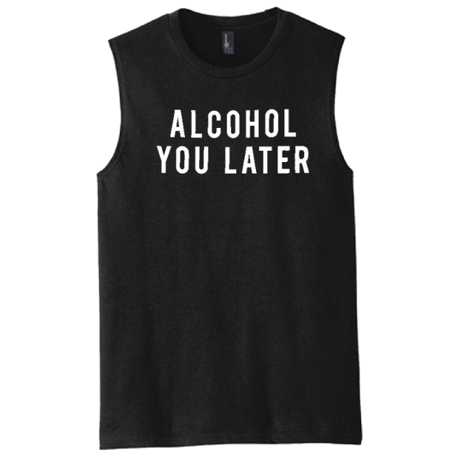Mitchell Tenpenny Black Alcohol You Later Muscle Tank