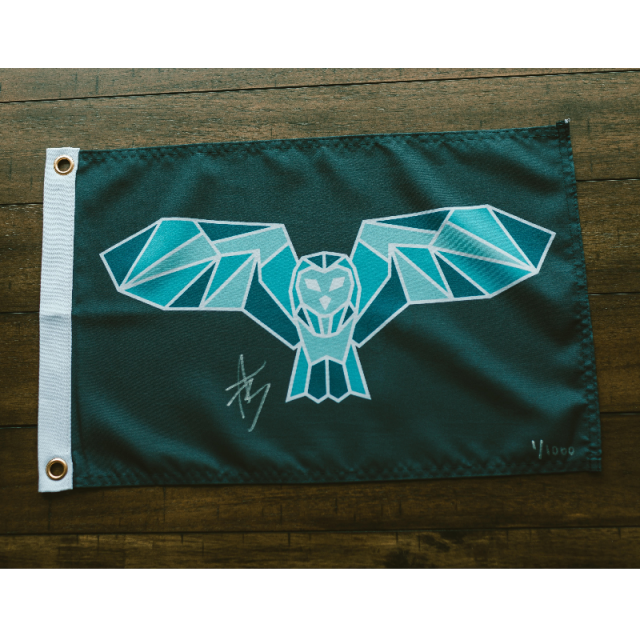 Night Owl Signed Flags